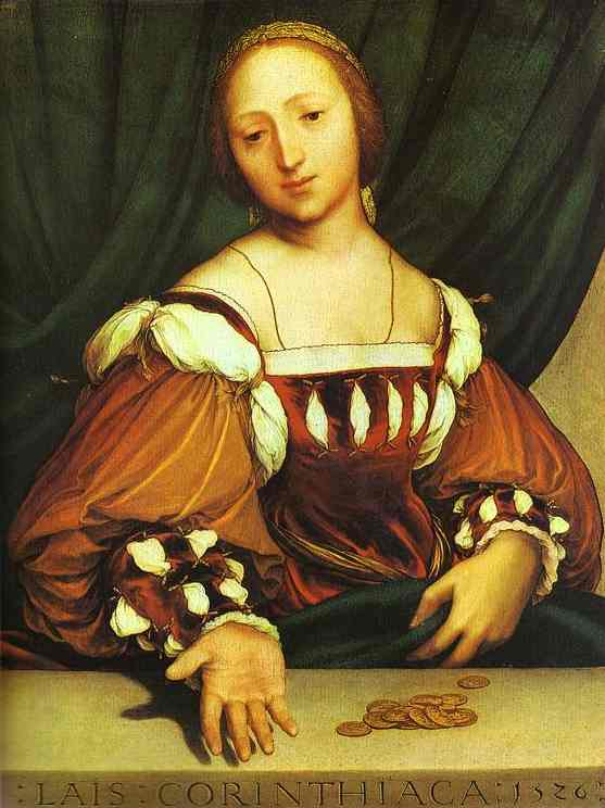 Portrait Of Lais Corinthiaca 1526 | Younger Hans Holbein | oil painting