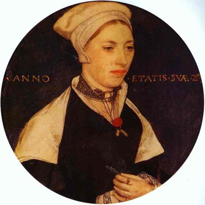 Portrait Of Mrs Pemberton 1535 | Younger Hans Holbein | oil painting