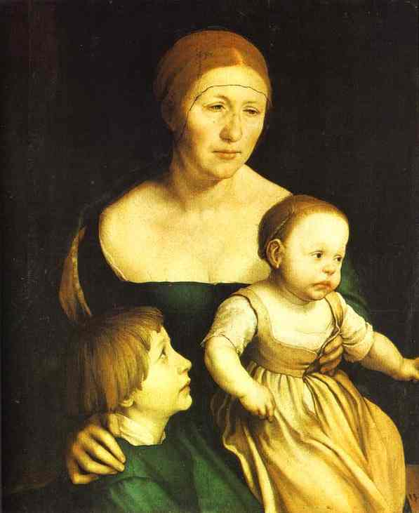 The Artists Family 1528 | Younger Hans Holbein | oil painting