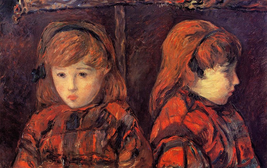 Double Portrait of a Young Girl (Mademoiselle Lafuite) 1883 | Paul Gauguin | oil painting