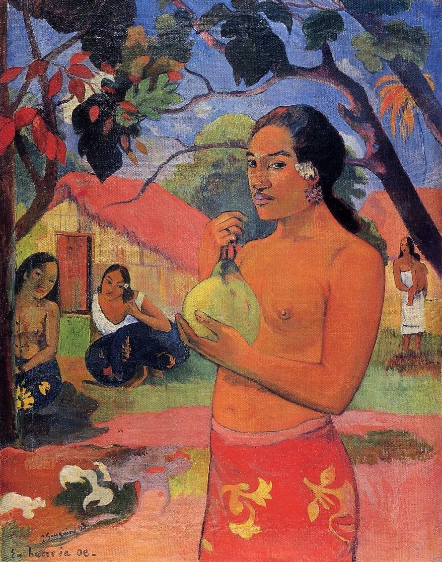 Ea haere la oe (aka Where are You Going) 1893 | Paul Gauguin | oil painting