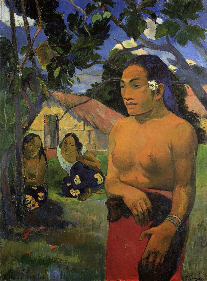 E haere oe i hia (aka Where Are You Going) 1892 | Paul Gauguin | oil painting