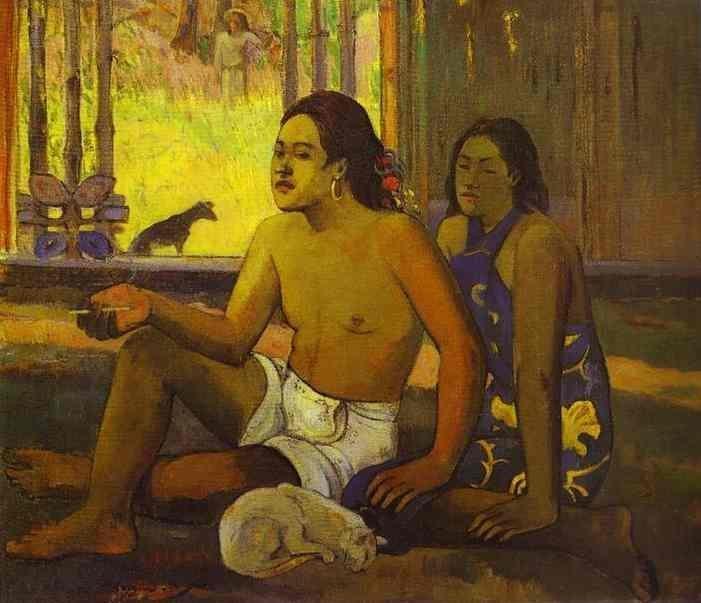 Eilaha Ohipa (aka Not Working) 1896 | Paul Gauguin | oil painting