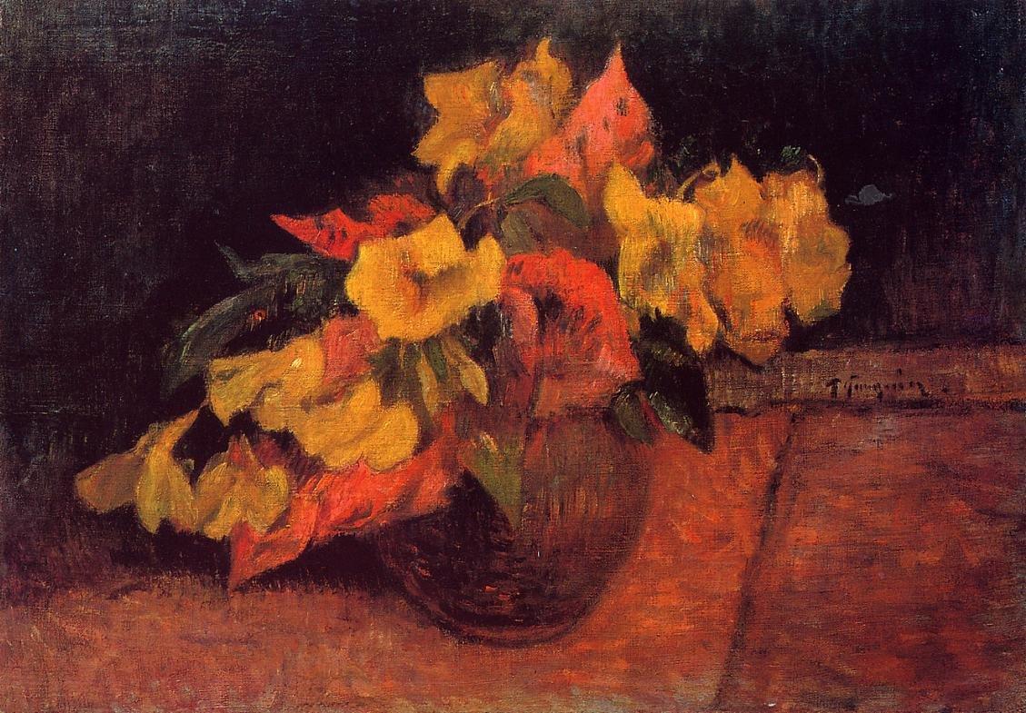 Evening Primroses in a Vase 1885 2 | Paul Gauguin | oil painting