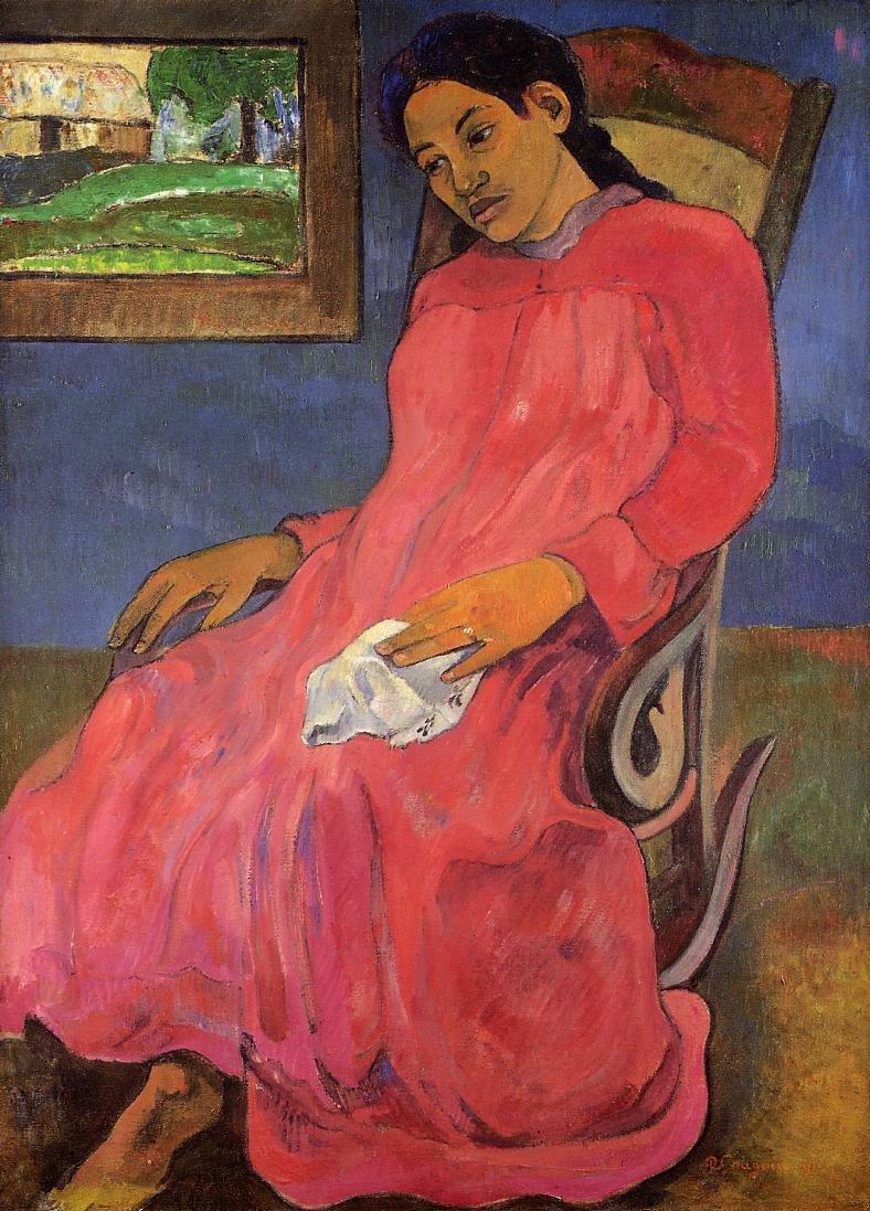 Faaturuma (aka Melancholy) 1891 | Paul Gauguin | oil painting