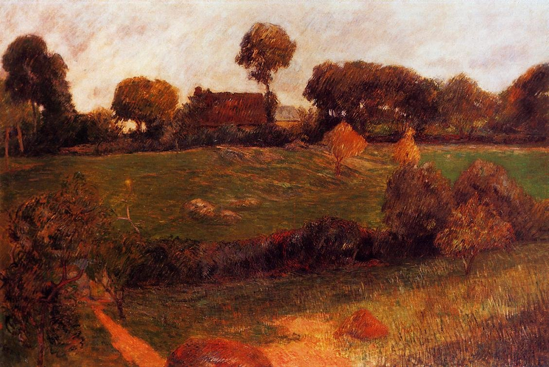 Farm in Brittany 1886 | Paul Gauguin | oil painting