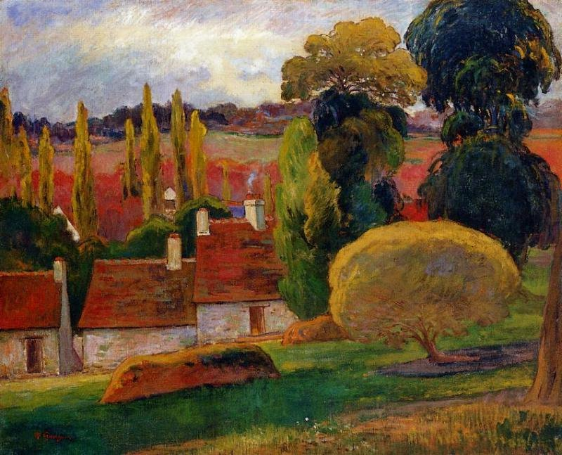 Farm in Brittany 1894 | Paul Gauguin | oil painting