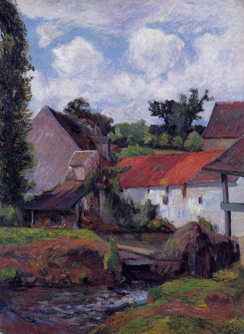 Farm in Osny 1883 | Paul Gauguin | oil painting