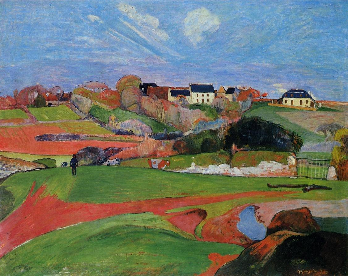 Fields at le Pouldu 1890 | Paul Gauguin | oil painting