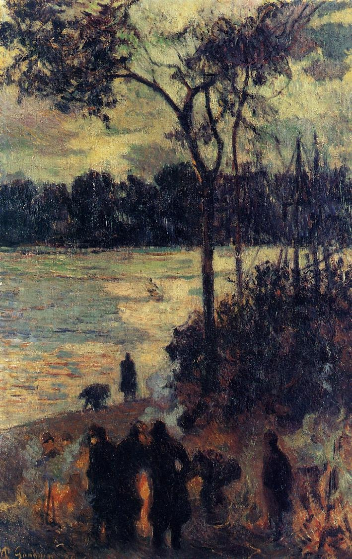 Fire by the Water 1886 | Paul Gauguin | oil painting