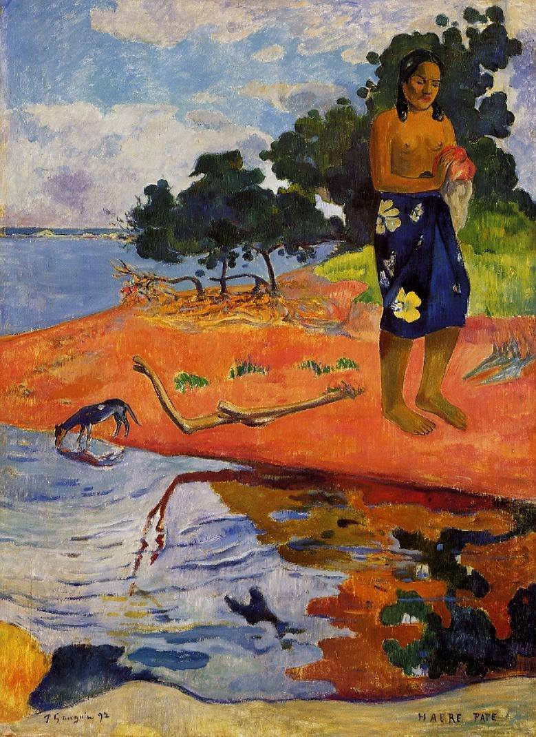 Haere Pape 1892   Paul Gauguin   oil painting