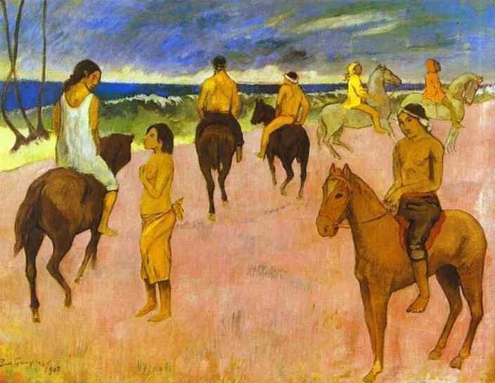 Horsemen on the Beach 1902 | Paul Gauguin | oil painting
