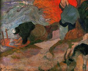 Washerwomen 1888 | Paul Gauguin | oil painting
