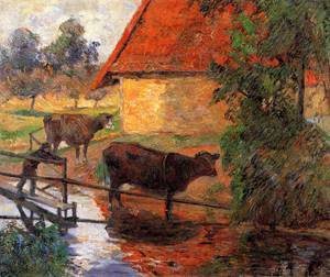 Watering Place 1885 | Paul Gauguin | oil painting