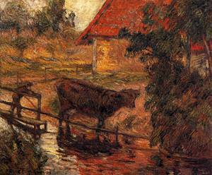Watering Place 1885 2 | Paul Gauguin | oil painting