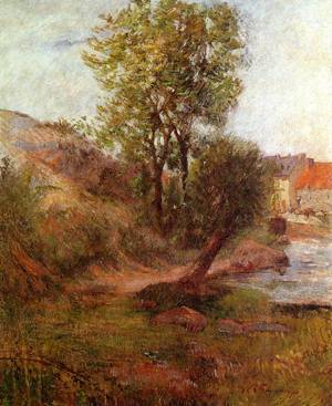 Willow by the Aven 1888 | Paul Gauguin | oil painting