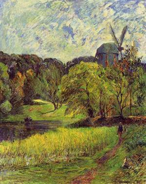 Windmil Ostervold Park 1885 | Paul Gauguin | oil painting
