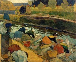 Washerwomen at the Roubine du Roi. Arles 1888 | Paul Gauguin | oil painting