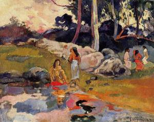 Woman on the Banks of the River 1892 | Paul Gauguin | oil painting