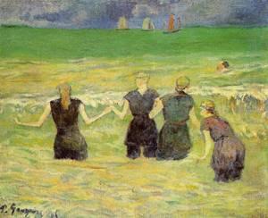 Women Bathing Dieppe 1885 | Paul Gauguin | oil painting