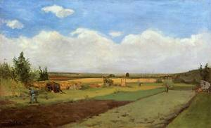 Working the land 1873 | Paul Gauguin | oil painting