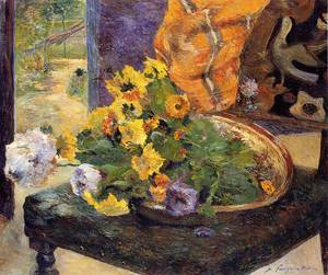 The Makings of a Bouquet 1880   Paul Gauguin   oil painting