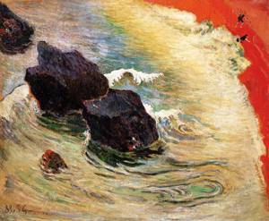 The Wave 1888   Paul Gauguin   oil painting