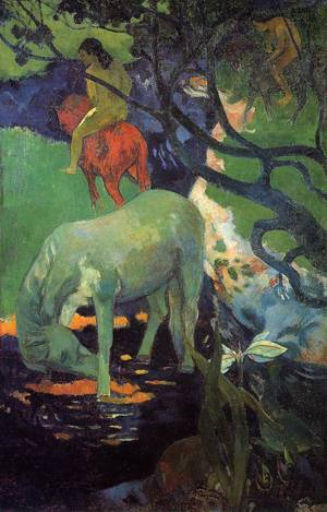 The White Horse 1898   Paul Gauguin   oil painting
