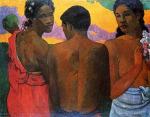 Three Tahitians 1898 | Paul Gauguin | oil painting
