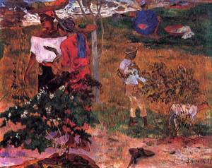 Tropical Converstion 1887 | Paul Gauguin | oil painting