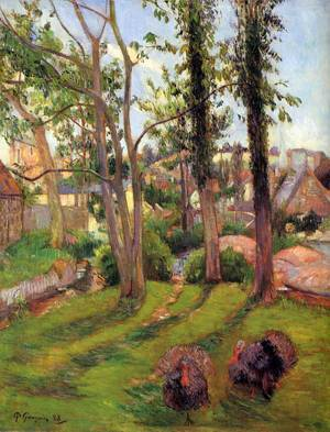Turkeys (aka Pont Aven Landscape) 1888 | Paul Gauguin | oil painting