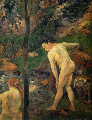 Two Girls Bathing 1887 | Paul Gauguin | oil painting