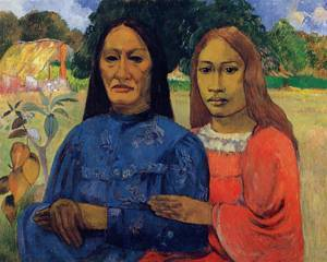 Two Women (aka Mother and Daughter) 1901 1902 | Paul Gauguin | oil painting