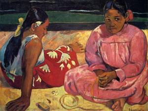 Two Women on the Beach 1891 | Paul Gauguin | oil painting