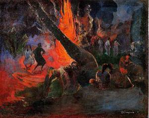 Upaupa (aka Fire Dance) 1891 | Paul Gauguin | oil painting