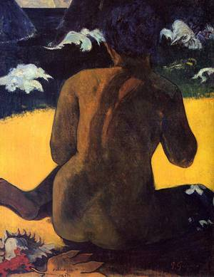 Vahine no te Miti (aka Woman by the Sea) 1892 | Paul Gauguin | oil painting
