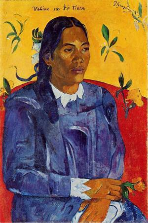 Vahine no te Tiare (aka Woman with a Flower) 1891 | Paul Gauguin | oil painting