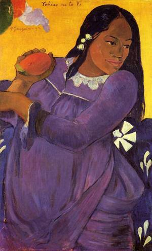 Vahine no te vi (aka Woman with a Mango) 1892 | Paul Gauguin | oil painting