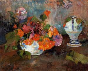 Vase of Nasturtiums 1886 | Paul Gauguin | oil painting
