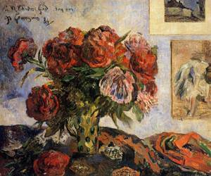 Vase of Peonies 1884 | Paul Gauguin | oil painting