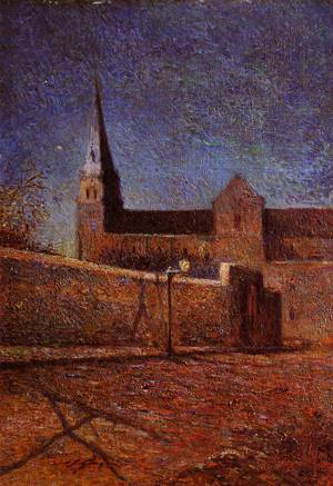 Vaugirard Church by Night 1881 | Paul Gauguin | oil painting