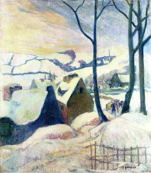 Village in the Snow 1894 | Paul Gauguin | oil painting
