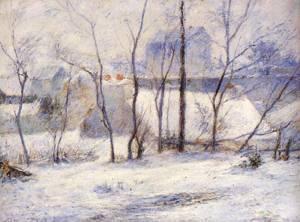 Winter Landscape Effect of Snow (aka Snow at Vaugirard II) 1879 | Paul Gauguin | oil painting