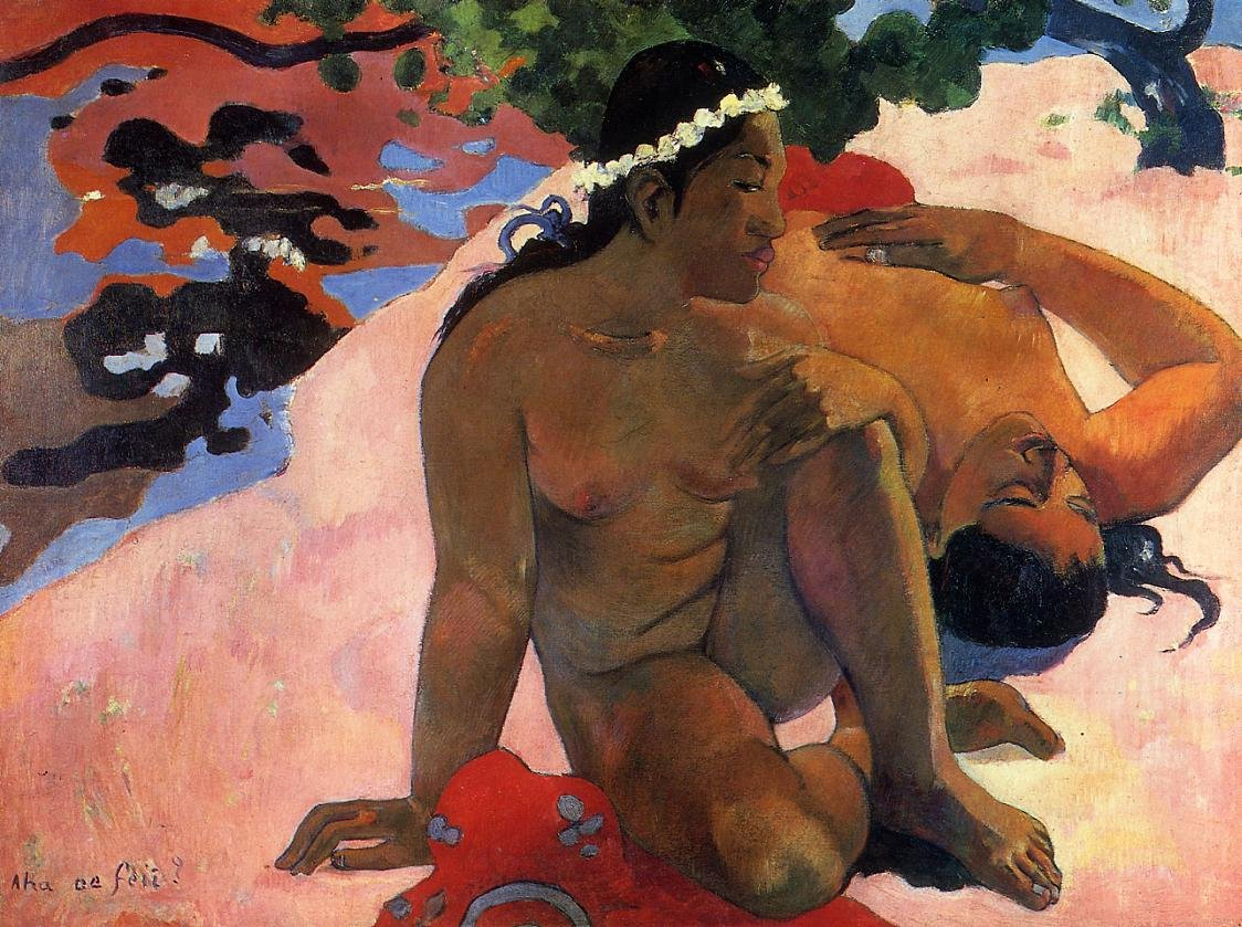 Aha oe Fell (aka What Are You Jealous) 1892 | Paul Gauguin | oil painting