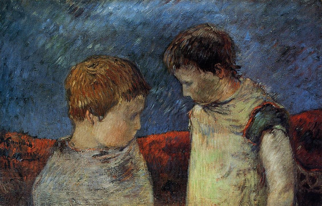 Aline Gauguin and One of Her Brothers 1883 | Paul Gauguin | oil painting