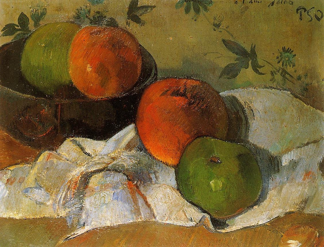 Apples and Bowl 1888 | Paul Gauguin | oil painting
