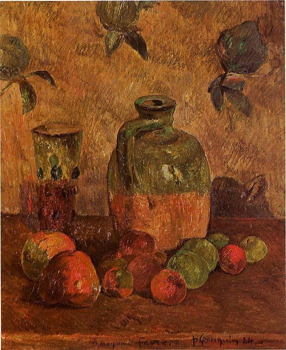 Apples Jug Iridescent Glass 1884 | Paul Gauguin | oil painting