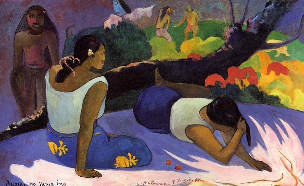 Arearea no varua ino 1894 | Paul Gauguin | oil painting