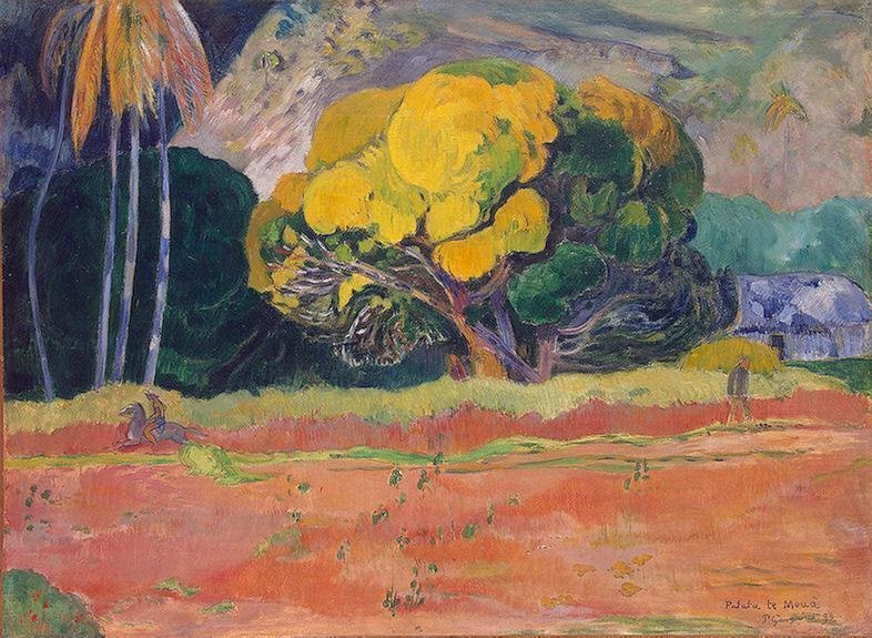 At the Foot of the Mountain 1892 | Paul Gauguin | oil painting