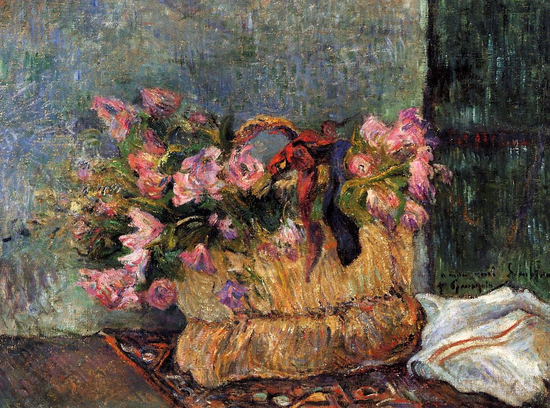 Basket of Flowers 1884 | Paul Gauguin | oil painting